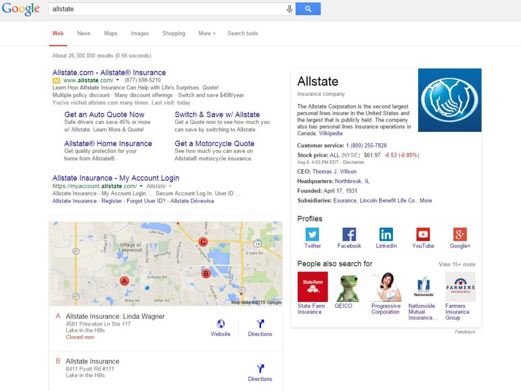 Allstate Branded Search