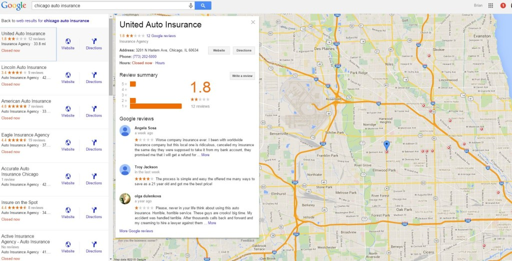 Chicago Insurance Map
