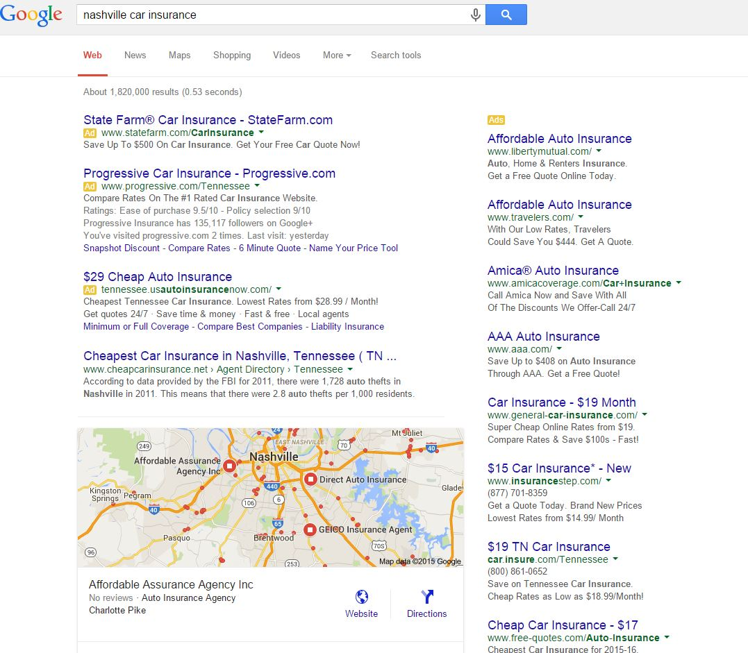 Aaa Car Insurance Quote Google Goes To Local 3 Pack  Integratedigitalmarketing