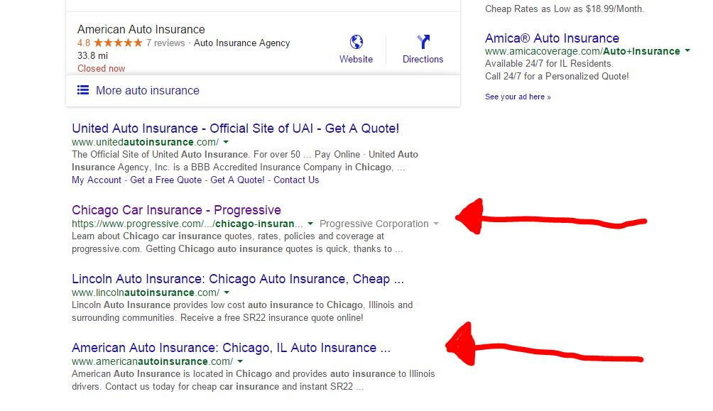 Chicago Auto Insurance Result