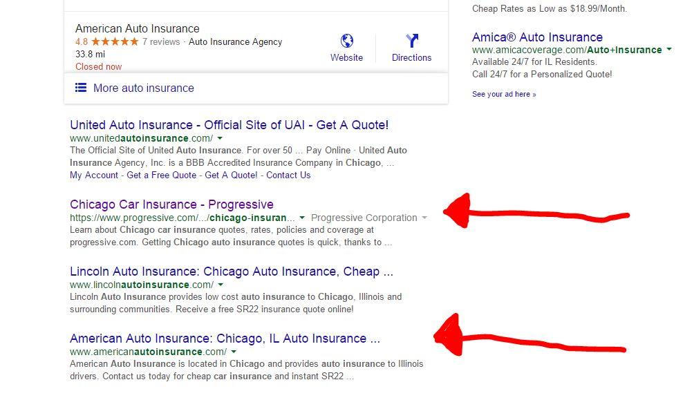 Chicago Auto Insurance Result
